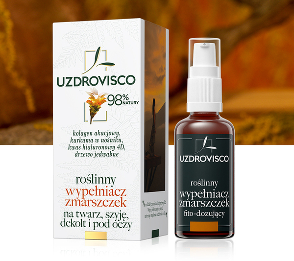 Roślinny wypełniacz zmarszczek - kurkuma (50 ml) bogate serum przeciwzmarszczkowe na twarz, szyję, dekolt i pod oczy